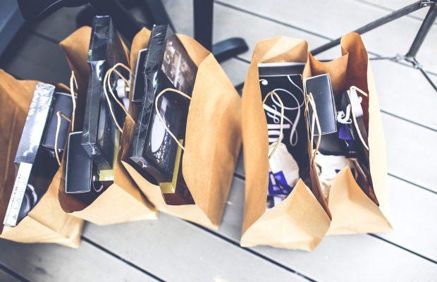 Shop Shopping Bags Gift Brown Blank Market